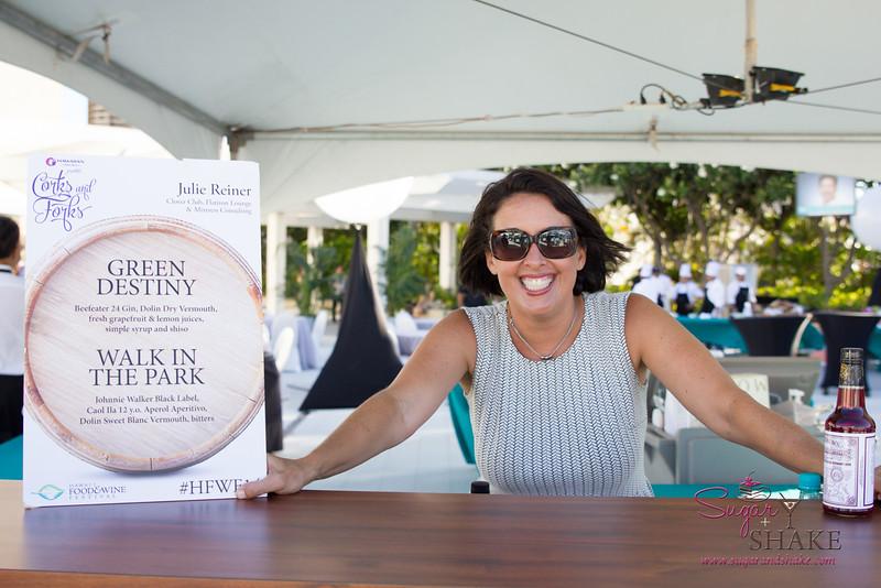 """Hawai'i Food & Wine Festival 2014:  """"Corks & Forks."""" Cocktail wonder woman Julie Reiner.  © 2014 Sugar + Shake"""