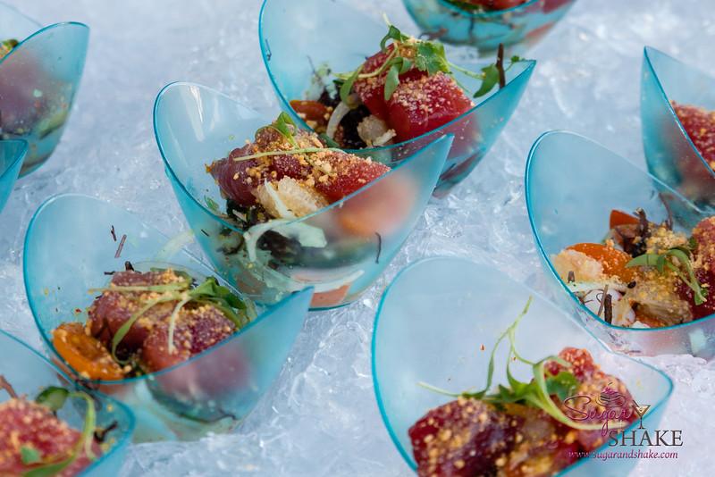 "Hawai'i Food & Wine Festival 2014:  ""Corks & Forks."" 'Ahi Ceviche by Chef Nobu Matsuhisa (Nobu Waikiki, Honolulu).  © 2014 Sugar + Shake"