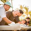 "Hawai'i Food & Wine Festival 2014: ""Under a Maui Moon."" From left to right: Chefs Sheldon Simeon (Migrant, Maui), Mourad Lahlou (Aziza, San Francisco), Ming Tsai (Blue Ginger, Massachusetts), Isaac Bancaco (Ka'ana Kitchen, Maui) and Chris Kajioka (Honolulu). © 2014 Sugar + Shake"