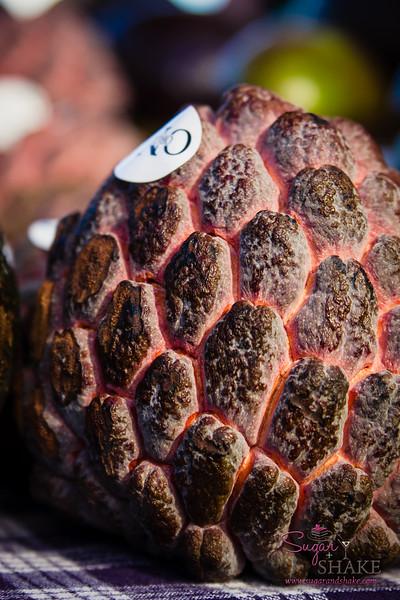 Kā'anapali Fresh 2014. Grown on Maui Farmers Market. Strange fruits abound. © 2014 Sugar + Shake