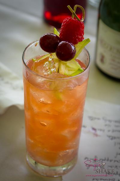 Kā'anapali Fresh 2014. Fresh Mixology 101: Kā'anapali Craft. Teeny Weeny Whiskey Bikini. Table cocktail contest entry, crafted by Jen Russo and Sugar. © 2014 Sugar + Shake