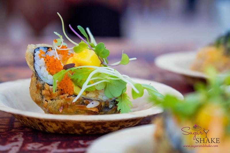 Kā'anapali Fresh 2014. Coco-Crusted Lobster Sushi. Chef Bernardo Salazar, Royal Lahaina Resort. © 2014 Sugar + Shake