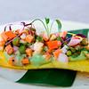 Kā'anapali Fresh 2014. Kā'anapali from Range to Sea Signature Event. Traje Farm Vegetable Ceviche. Chefs Paris Nabavi & Eduardo Pineda, Sangrita Grill & Cantina. © 2014 Sugar + Shake