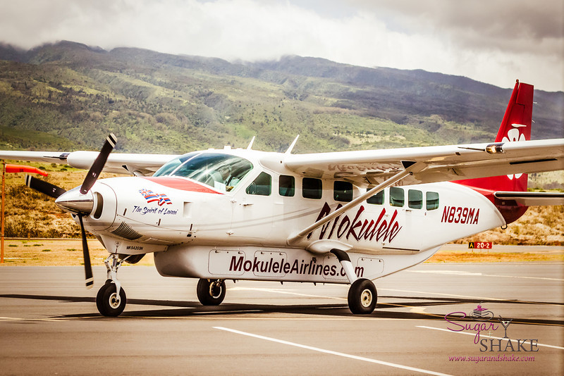 On the plus side, you can fly directly in and out of Kapalua airport. On the down side: this is your plane. A flying minivan. © 2013 Sugar + Shake