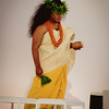 Kaumakaiwa Kanaka'ole offered a Hawaiian chant to begin the formal portion of the ceremony. © 2012 Sugar + Shake