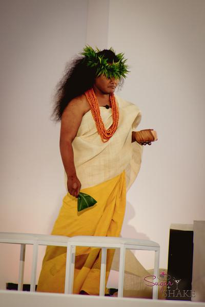 Kaumakaiwa Kanaka'ole offered a Hawaiian chant to begin the formal portion of the ceremony. © 2012 Sugar + Shake