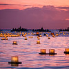 Lanterns on the water. Lantern Floating Hawaii 2013. © 2013 Sugar + Shake