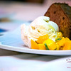Dessert Course: Lahaina Mangos — Buzz's Cinnamon & Brown Sugar Mano Bread and Lappert's Vanilla Bean Ice Cream. © 2013 Sugar + Shake