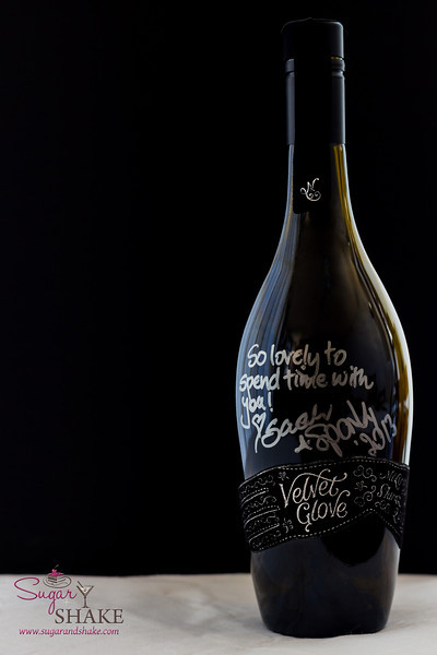 Our souvenir of the weekend: the empty bottle of Velvet Glove we shared with Sarah & Sparky. © 2013 Sugar + Shake