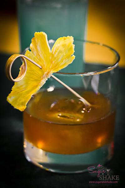Julie Reiner's modern tropical drink, The Tree House. © 2012 Sugar + Shake
