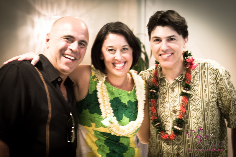 Julie Reiner and Francesco Lafranconi with Tony Abou-Ganim, the Modern Mixologist, also in town to appear at the Festival. © 2012 Sugar + Shake
