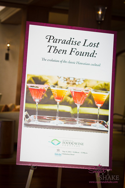 "Julie Reiner and Francesco Lafranconi's ""Paradise Lost, Then Found: The Evolution of the Classic Hawaiian Cocktail"" seminar at the Hawai'i Food & Wine Festival. © 2012 Sugar + Shake"