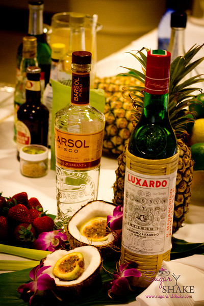"Part of the makings for Francesco Lafranconi's Halakahiki Royal, the ""welcome cocktail"" for the seminar. © 2012 Sugar + Shake"