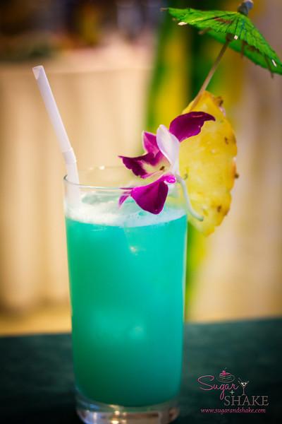 The classic Blue Hawaiian, a la Julie Reiner. © 2012 Sugar + Shake