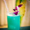 The classic Blue Hawaiian, a la Julie Reiner. © 2012 Sugar + Shake