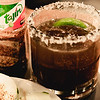 New Summer 2016 Menu Tasting at Pint + Jigger. The Batanga. Served with Tajin-dusted cucumbers and a salted rim. © 2016 Sugar + Shake