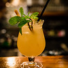 New Summer 2016 Menu Tasting at Pint + Jigger. Starting off the tasting with a Bright and Sunny (a summery riff on the Dark and Stormy). © 2016 Sugar + Shake