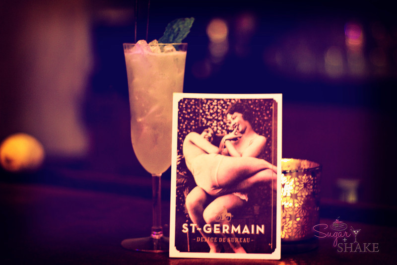 """St-Germain and Grey Goose were the featured liquors of the evening. We didn't catch the name of this one, made by """"Dr. Joey"""" Gottesman. © Sugar + Shake"""