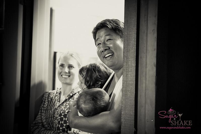 Amanda Corby Noguchi, Chef Mark Noguchi and daughters. © 2017 Sugar + Shake