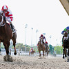 3/17/2012  -  2011 Horse of the year Havre De Grace with Ramon Dominguez aboard pulls away from the field to take the 3rd running of the $150,000 New Orleans Ladies at Fair Grounds.  Juanita ridden by Rosie Napravnik (blue cap) finished second 2nd and Sterling Madame with James Graham up was third.  <br /> Photo by Hodges Photography / Lou Hodges, Jr.