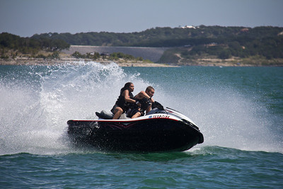Paul and Jasmine on the Jet Ski