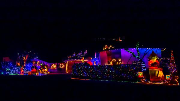 Christmas lights in La Mesa