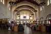 Santa Fe Railway Station, San Diego.  Waiting room.