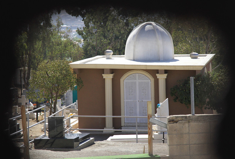 A mausoleum in the Tecate cemetery.