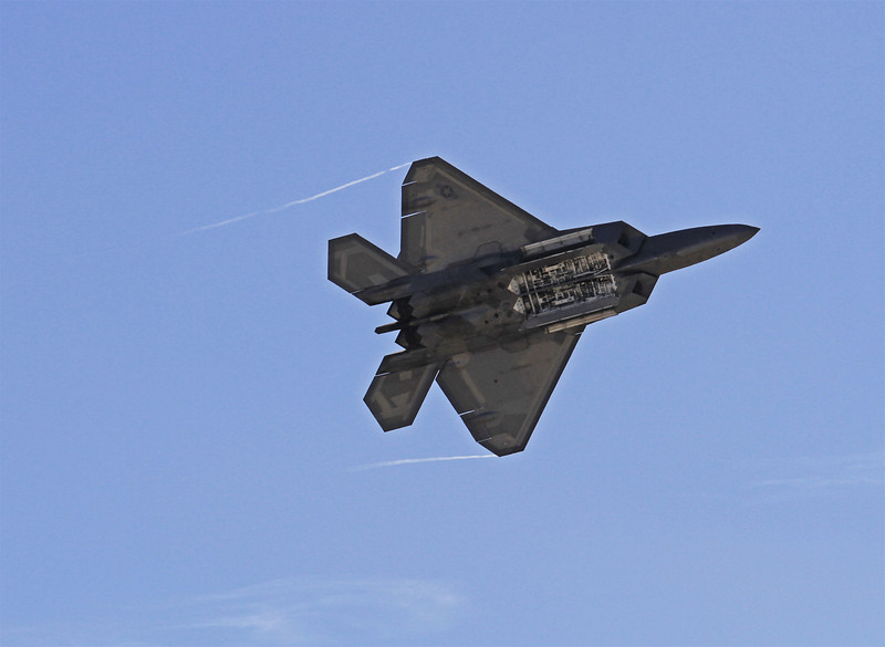 F22 Raptor.  Weapons bay doors open.