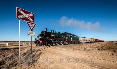 Steam train visiting the west..camden park station longreach