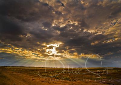 desert god light south of Longreach