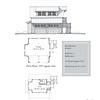 "The overall dimensions are 26'-8"" x 24'-8"" with 319 Heated Square Feet above. Outbuildings, page 85."