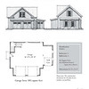 "The overall dimensions are 36'-0"" x 28'-0"" with 616 Unfinished Heated Square Feet above. Outbuildings, page 15."
