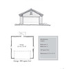 """The overall dimensions are 22'-0"""" x 22'-0"""". Outbuildings, page 43."""