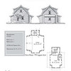 "The overall dimensions are 26'-8"" x 35'-0"" with 438 Heated Square Feet above. Outbuildings, page 70."