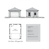 "G0022 is a 1-car garage. The overall dimensions are 16'-0"" x 20'-0"". Outbuildings, page 11."