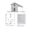 """G0030 is a 1-car garage with an attached 1-car carport. The overall dimensions are 21'-4"""" x 23'-0"""". Outbuildings, page 9."""