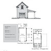 """G0036 is a 1-car garage with an attached 1-car carport and bonus space above. The overall dimensions are 25'-6"""" x 33'-6"""" with 370 heated square feet. Outbuildings, page 80."""