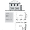 "G0042 is a 2-car garage with bonus space above. The overall dimensions are 28'-0"" x 22'-0"" with 566 heated square feet.  Outbuildings, page 78."