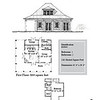 """G0043 is a 2-car garage with bonus space above. The overall dimensions are 43'-0"""" x 38'-0"""" with 1281 heated square feet.  Outbuildings, page 3."""