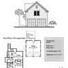 """G0044 is a 2-car garage with bonus space above. The overall dimensions are 24'-0"""" x 26'-0"""" with 624 heated square feet.  Outbuildings, page 69."""