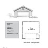 "G0048 is a 2-car garage. The overall dimensions are 24'-0"" x 24'-0"", 576 square feet.  Outbuildings, page 24."