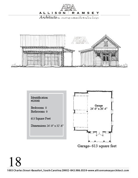 "G0068 is a 2-car garage. The overall dimensions are 28'-0"" x 22'-0"" and it is 616 Square Feet."