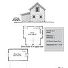 "The overall dimensions are 28'-0"" x 26'-0"" with 476 Square Feet and a 28'-0"" x 17'-0"" bonus room above. Outbuildings, page 71."