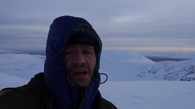 putting down jacket on and being toastie