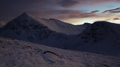 dawn toward the pinnacles