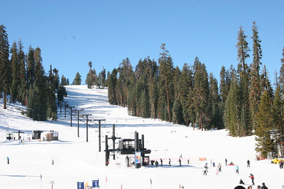 One of the ski runs