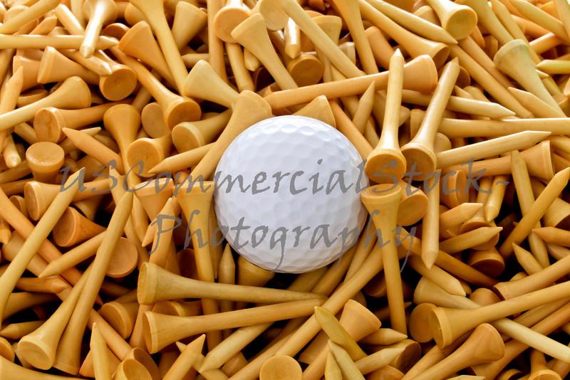 golf ball on tees