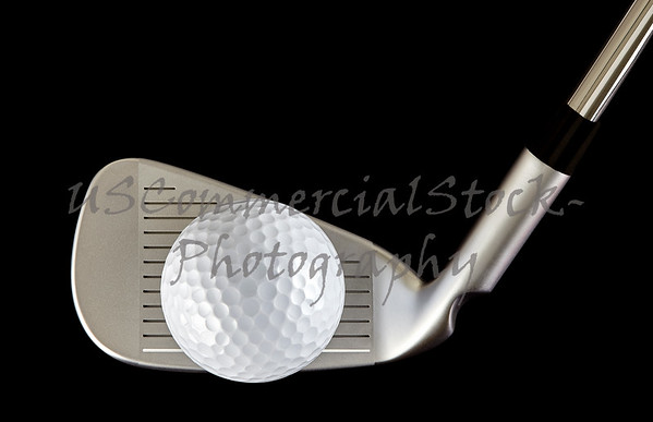 Golf ball and club head focus stack closeup