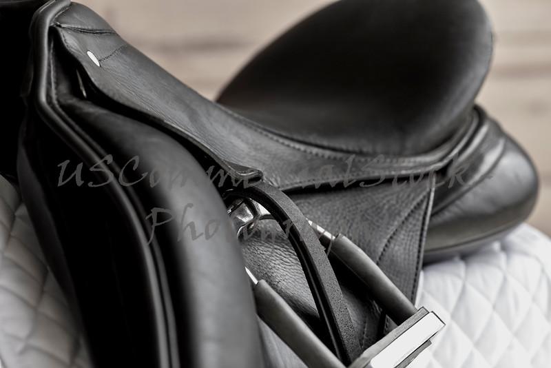 Used Dressage Riding Saddle and Stirrup